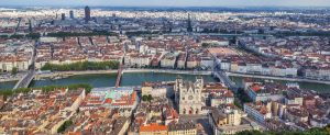 The most famous view of Lyon from the Notre Dame de Fourviere Basilica